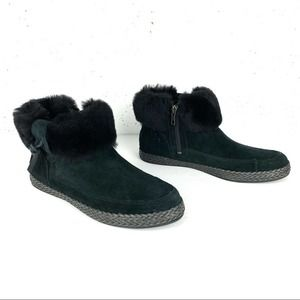 UGG Elowen Suede Ankle Boots Black Size 7.5